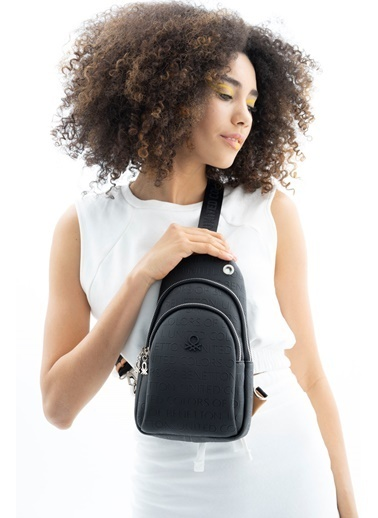 Benetton Messenger / Askılı Çanta Siyah